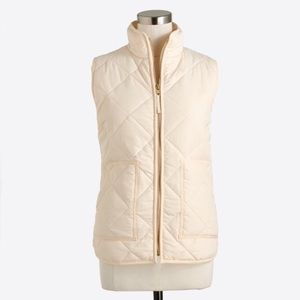 NWT J Crew Bleached Sand Quilted Puffer Vest